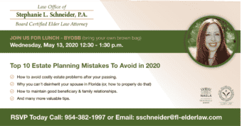 Webinar: Top 10 Estate Planning Mistakes To Avoid in 2020