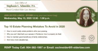 Webinar: Top 10 Estate Planning Mistakes To Avoid in 2020
