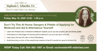 Don't Try This At Home: Dangers & Pitfalls Of Applying for Medicaid and Aid & Attendance Yourself