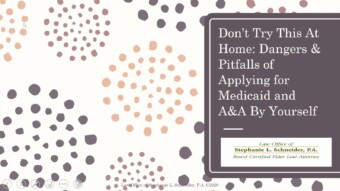 Dangers & Pitfalls of Applying for Medicaid Yourself