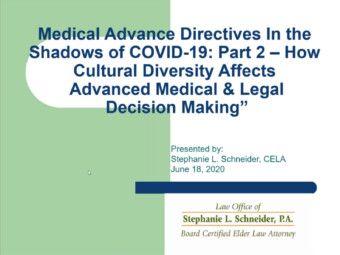 Medical Advance Directives In the Shadow of COVID-19 Part 2