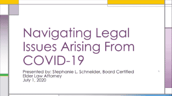 Navigating Legal Issues Resulting from COVID-19