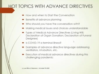 Medical Advance Directives In the Shadows of COVID-19: Part 1