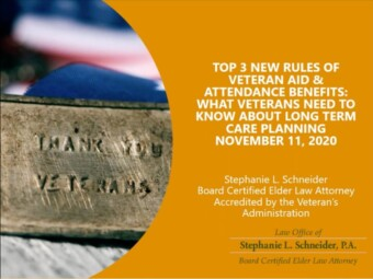 Top 3 New Rules of Veteran Aid & Attendance Benefits