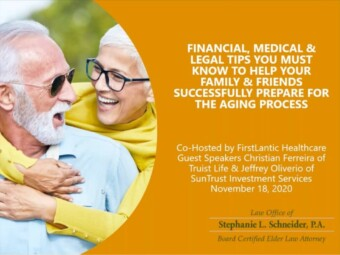 Financial, Medical & Legal Tips You Must Know to Help Your Family and Friends Successfully Prepare For The Aging Process