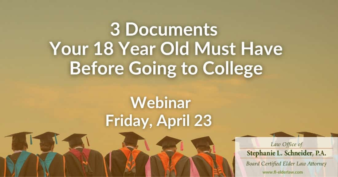 3 Documents Your 18 Year Old Must Have Before Going To College