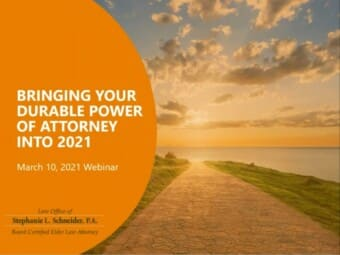 Bringing Your Durable Power of Attorney Into 2021