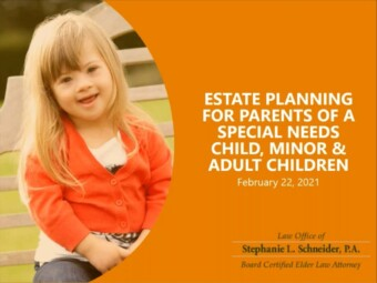 Estate Planning for Parents of a Special Needs Child