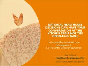 Celebrate National Healthcare Decisions Day